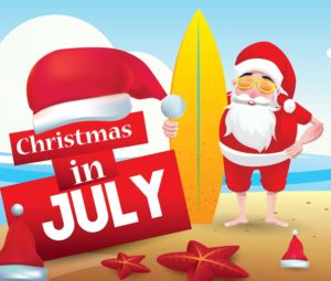 Christmas in July Event Header